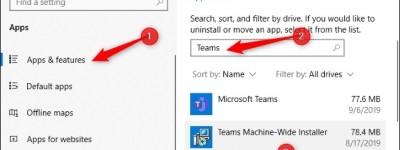 Win10上永久性卸载掉Microsoft Teams