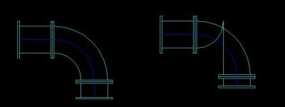 求助:天正给排水双线管道内侧线变形
