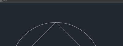 CAD通过三角形的三个顶点来绘制圆弧技巧