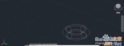 CAD如何绘制一个立体圆环?