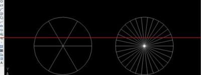 CAD怎么把一个圆平均分成若干份?