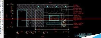 cad怎么绘制楼电视墙立面图?