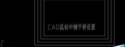 cad鼠标中键不能平移该怎么重新设置?