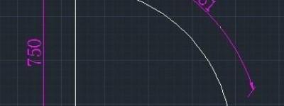CAD已怎么更久弧长和直角边长画弧?