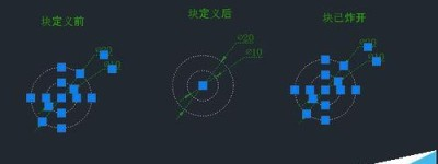 CAD怎么创建块和分解块?
