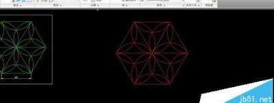 CAD怎么做一个六角镶花的图形?