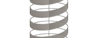 CAD怎么绘制一个螺旋上升的图形?