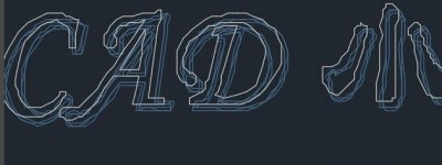 CAD怎么利用word获取文字轮廓线?