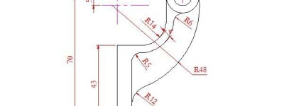 CAD怎么画一个窗帘挂钩?