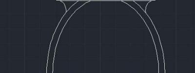 cad怎么绘制马桶坐便器的平面图?