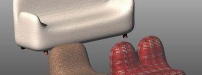 cad中怎么绘制逼真的单人或多人沙发?