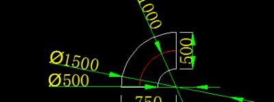 CAD怎么使用倒角命令快速绘制弯头?