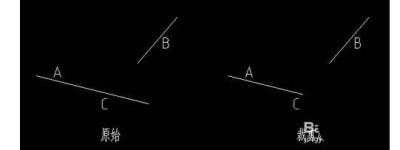CAD两条线段不相交该怎么裁剪及延伸?