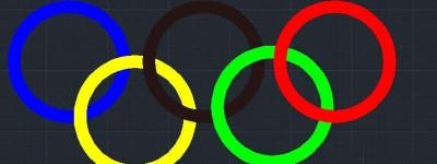 cad怎么绘制奥运五环图形?