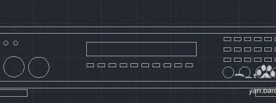 CAD怎么设计一款vcd机的平面图?