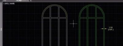 CAD怎么使用修剪与延伸绘制欧式窗户?