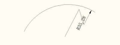 CAD2010怎么给弧线进行折弯标注?