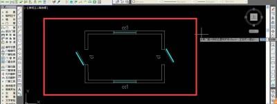 CAD门窗怎么放置在墙线中心?