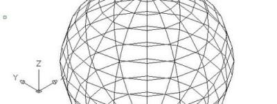 cad怎么画球面? cad三维球面画法
