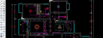 cad2008怎么绘制客厅开关布置平面图?
