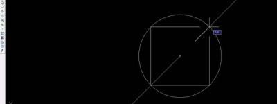 CAD怎么画圆内接正方形?