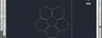 CAD多个六边形怎么快速对齐? CAD图形对齐的教程