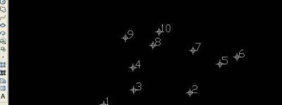 cad图纸怎么批量展绘坐标点和点号?