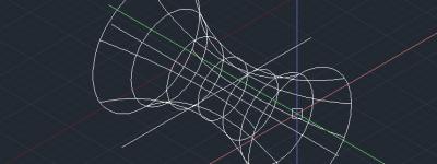 cad怎么绘制空间双曲面图形?