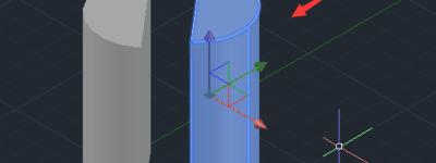CAD圆柱体怎么剖切?