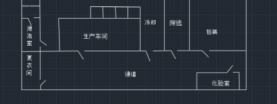 cad怎么画厂房的线条平面图?