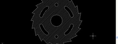CAD圆形切割片截面图怎么绘制?