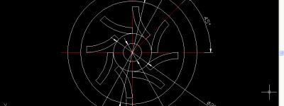 CAD怎么画风叶轮零件平面图?