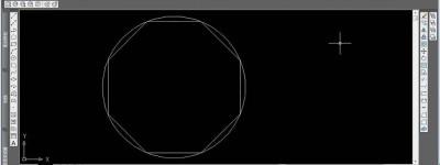 CAD怎么画多边形的外切圆?