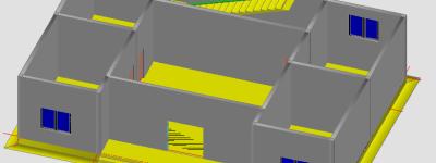 天正建筑cad怎么建模筑物首层平面图?