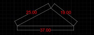 CAD怎么画已知边长的三角形?