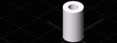 CAD怎么绘制三维立体的空心圆柱?