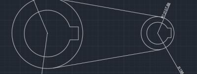CAD怎么绘制类似传送轮带的平面图?