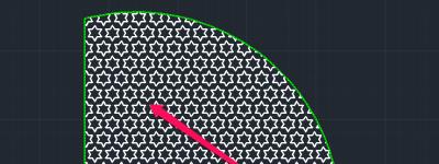 CAD怎么快速填充扇形? cad四分之一圆填充图案的教程