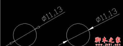 AutoCAD标注时让标注空心箭头变成实心箭头的操作步骤