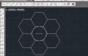 CAD2014怎么实现环形阵列六边形? CAD画蜂窝图形的技巧