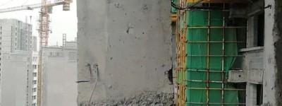 心惊!在建楼体发生偏移,肉眼可见!